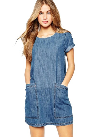 Denim kot elbise cepli elbise denim dress